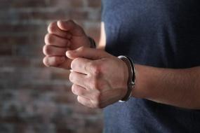Man in handcuffs in Nashville
